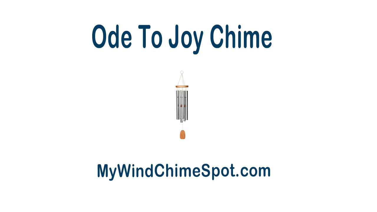 oj Woodstock Ode To Joy Wind Chime