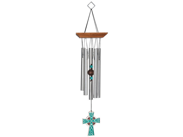 wccc640 Woodstock Celtic Cross Wind Chime